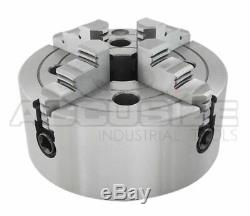 10/250 mm 4-Jaw Independent Lathe Chuck, Plain Back, #0557-0010