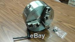 10 3-JAW SELF-CENTERING LATHE CHUCK D1-6 MOUNTING-0.003 TIR-new