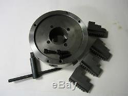 10 4-JAW SELF-CENTERING LATHE CHUCK with extra jaws -new