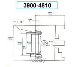 10 4-jaw D1-6 Direct Mount Camlock Lathe Chuck (3900-4810)