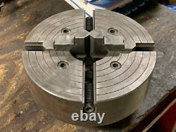10 Buck 4-Jaw Lathe Chuck, D1-6 Camlock Back, Used, SEE PICTURES