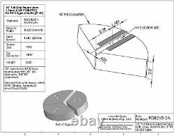 10 Full Grip Round Jaws Aluminum for B210 Lathe Chuck (2 HT, 10 Pie Diameter)