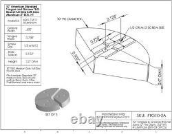 10 Full Grip Tongue & Groove Aluminum Lathe Soft Jaws (2 HT, 10 Pie Diameter)