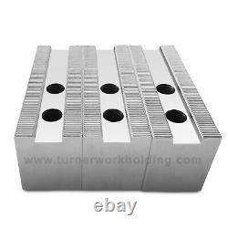 15 Lathe Chuck Flat Steel Soft Jaws for (Kitagawa, Samchully), ht=2.5- 3pc set