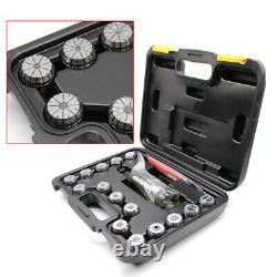 15 pcs MT3 ER32 CNC Collet+Morse Taper 1/16-3/4 M12 Chuck Holder Milling Lathe