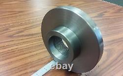 2-1/4-8 Semi-Finished adapter Plate for 6 LATHE CHUCKS #ADP-06-214SM- NEW