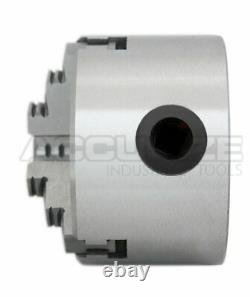 3/75 mm 3-Jaw Lathe Chuck, Plain Back x0.003 TIR with 2 Sets of Jaws, #0559-0110