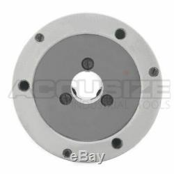 4/100mm 3-Jaw Lathe Chuck Plain Back, x0.003 TIR with 2 Sets of Jaws, #0559-0111