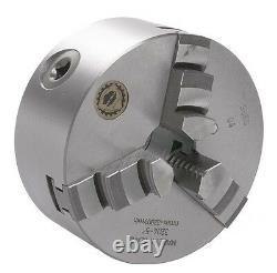 4 Bison 3 Jaw Lathe Chuck Plain Back Semi Steel Mono Block Jaws 7-810-0400