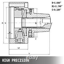 5C Collet Chuck Set, Collet Adapter 6000 RPM, D1-5 Cam Lock Mount Lathe Use