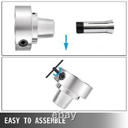 5C Collet Lathe Chuck With Semi-finished L-00 Back Plate and Collet Adapter