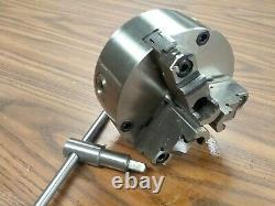 5 3-JAW SELF-CENTERING LATHE CHUCK top & bottom jaws front mounting #0503A-FM