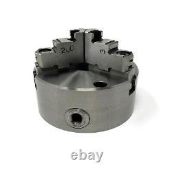 5 3-JAW SELF-CENTERING lathe CHUCK top bottom jaws 1-1/2-8 adapter #0503A-FM