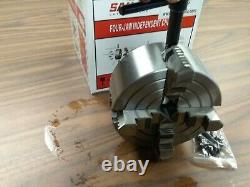 5 4-JAW LATHE CHUCK w independent jaws rear mounting #0504F0 K72 125