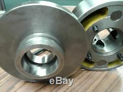 6 4-JAW LATHE CHUCK w independent jaws w L00 adapter semi-finished #0604F0