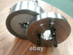 6 4-JAW SELF-CENTERING LATHE CHUCK Top bottom jaws D1-3 semi-finished adapter