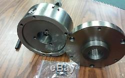 6 4-JAW SELF-CENTERING LATHE CHUCK w. Top&bottom jaws w. 1-1/2-8 adapter-new