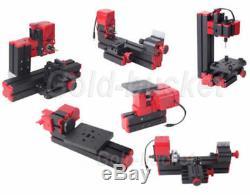6 In 1 Wood Model Making DIY Tool Basic Kit Lathe Lathe Milling Drilling Sanding