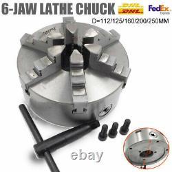6jaw Lathe Chuck Self-Centering 100/125/160/200/250MM Milling Lathe Processing