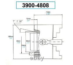 8 4-jaw D1-4 Direct Mount Camlock Lathe Chuck (3900-4808)