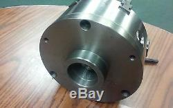 8 6-JAW SELF-CENTERING LATHE CHUCK w. Top&bottom jaws, w. 2-1/4-8 adapter-new