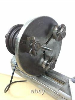 American Watch Tool Co. Headstock & Face Plate Chuck Watchmaker 8 mm Lathe 3 jaw