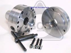 BOSTAR 5C Collet Lathe Chuck With 1 x 10 threaded Semi-finished Adapter