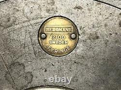 Bergmans 2100 Lathe Chuck 9 Tyringe Sweden 3 Jaw