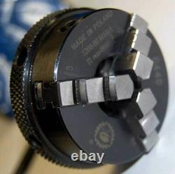 Bison 2.17 3-Jaw Self-Centering Q. C Lathe Chuck withM12x1 Threaded Mounting