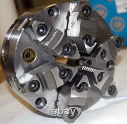 Bison 6 6-Jaw SET-TRU Scorll Forged Steel Lathe Chuck. 0004 TIR, withFine Adj