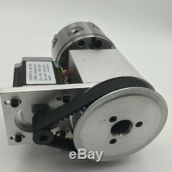 CNC Router Rotary Axis A-axis 4th-axis 100mm 4 Jaw Lathe Chuck + Tailstock-3