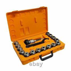 Collet Set R8 ER40 Shank Chuck Holder CNC Milling Lathe 15 Pc 1/8 1 Inch