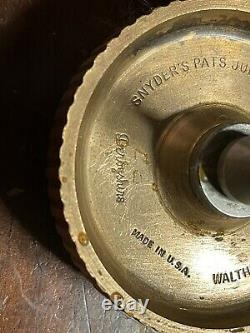 Derbyshire Watchmakers Lathe Self Centering 3 Jaws Chuck 8mm Collet