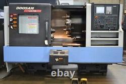 Doosan Lynx 300 CNC Lathe, Fanuc 0i CNC, New 2011, Collet Chuck, Tailstock