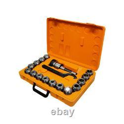 ER40 Collet Chuck R8 Shank W 15PC 1/8- 1 collets Set Holder CNC Milling Lathe