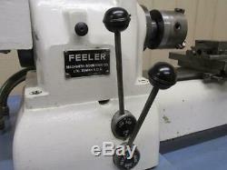 Feeler FSM-59 Precision Lathe 5C Hardinge Collets Chuck Coolant Cross Slide