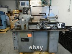 Hardinge HLV-H Tool Room Lathe with Collet Closer 3 jaw chuck & DRO