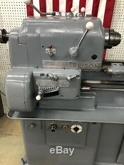 Harrison 12 x 48 Engine Lathe with5C Collet Nose, 3 Jaw Chuck