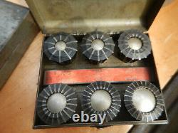 JACOBS FLEX COLLET METAL LATHE CHUCK With L1 MOUNT & 2 CASES OF COLLETS