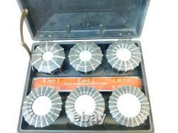 Jacobs Spindle Nose Lathe Chuck Model 91-C6 + Set of 11 Rubber Flex Collets D1-6