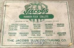 Jacobs Spindle Nose Lathe Chuck Model 91 T00 11 Rubber Flex Collets T00 Nice