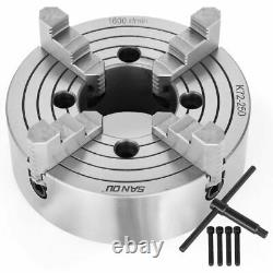 K72 4 Jaw Lathe Chuck Front Grinding Milling Machine Front Mounting Semi-steel