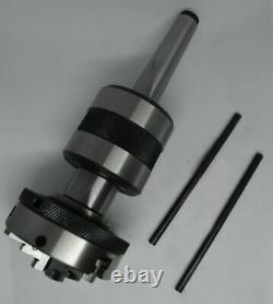 Live Revolving Tailstock with 4 Jaw Self Centering Lathe Chuck 65mm MT2 Shank