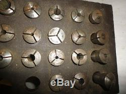 MACHINIST TOOL LATHE MILL Large Lot of 1A & 3 SB Machinist Collets in Rack