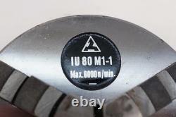 NOS TOS Czech Made Precision 80mm (3) 3-Jaw Lathe Scroll Chuck Plain back