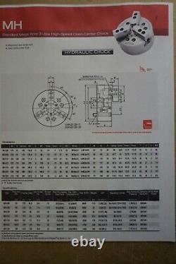 New Samchully lathe chuck MH-210, 10 3 jaw power chuck A2-8 (Kitagawa BB210)