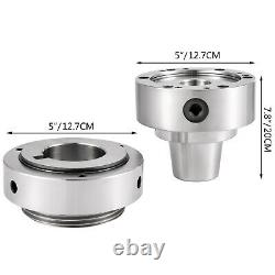Plain Back 5C Collet Lathe Chuck with a Semi-Finished Backplate, Collet Adapter