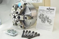 Rohm 10 6 jaw Self Centering adjustable lathe chuck 163773 ZSU HI-TRU $3,675