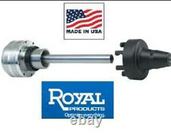 Royal D1-5 Pneumatic 5C Collet Draw Bar Chuck #17202 Manual Lathe Air Closer