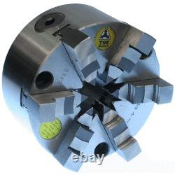 TOS 6 Jaw Self Centring Lathe Chuck 125mm Complete with Inside & Outside Jaws